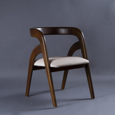 Curve Solid Wood Chair - Brown