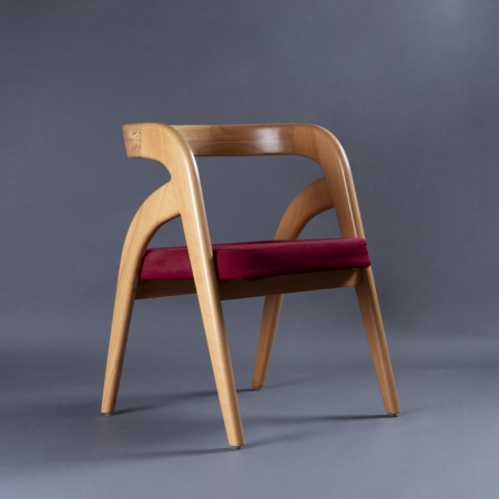 Curve Solid Wood Chair - Natural