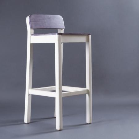 Sven Bar Stool - White / Grey