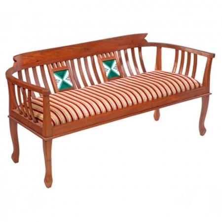Tile Three Seater Sofa (Chettinad Style Solid Teak Wood)