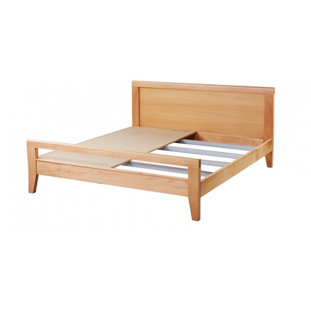 York King Size Beech Wood Bed - Natural Finish